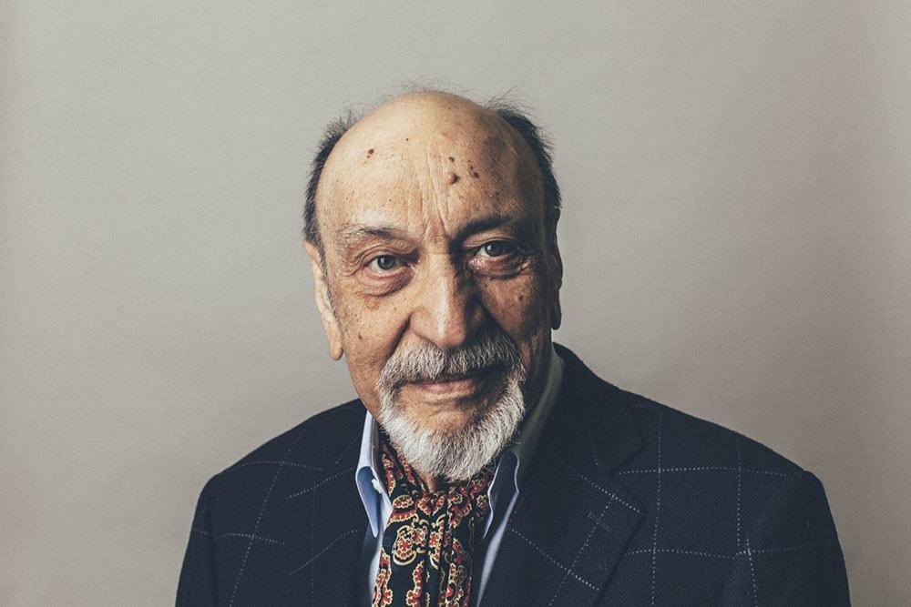 Milton Glaser nel 2014, ritratto da Catalina Kulczar.